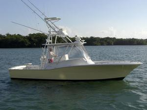 Used Scopinich 35 Walk Around Express Sports Fishing Boat For Sale