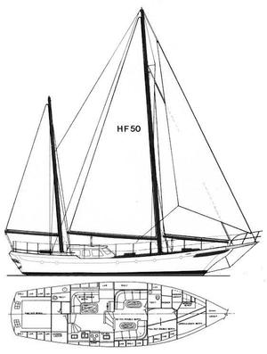 Used Hudson Force 50 Pilot-house Ketch Cruiser Sailboat For Sale