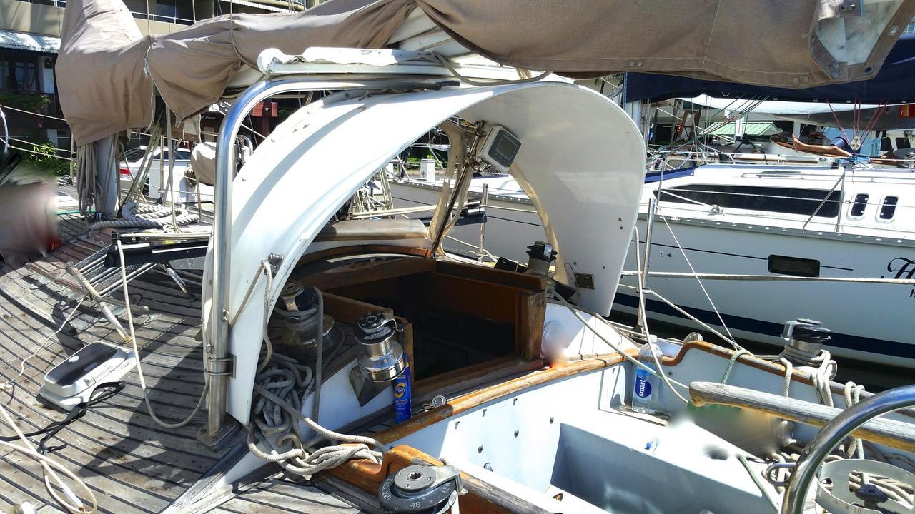 1977 Used Alajuela Custom Cutter Offshore Cruiser Cutter Sailboat