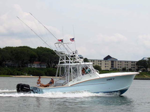 Used Outerbanks Boat Works Custom Express Cruiser Boat For Sale