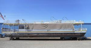 Used Hansen 75 X 16 Pontoon Houseboat House Boat For Sale