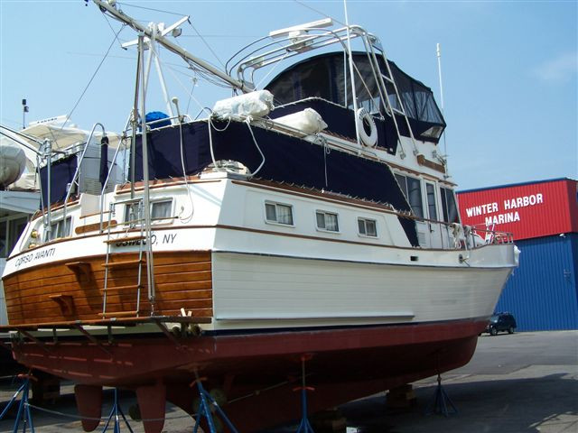 1981 used grand banks 42 motoryacht trawler boat for sale for Garden design trawler boat