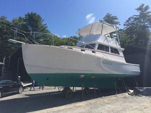 Used Lowell Brothers Flybridge Sedan Downeast Fishing Boat For Sale