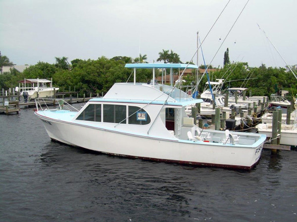 Used Custom Flybridge Boat For Sale