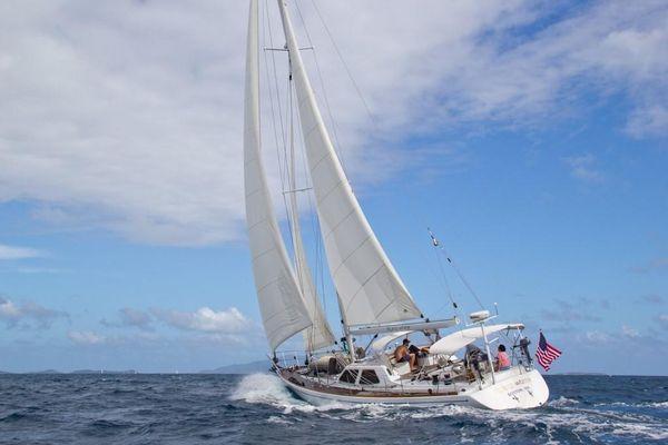 Used Scorpio ROBB LADD Custom Deck Saloon Sailboat For Sale