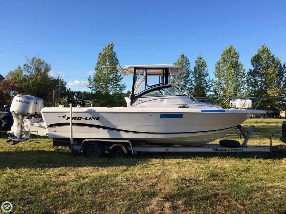 Proline Boats For Sale >> 2004 Used Pro Line 25 Wa Walkaround Fishing Boat For Sale