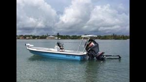 Used Action Craft 1720 Flyfisher Saltwater Fishing Boat For Sale