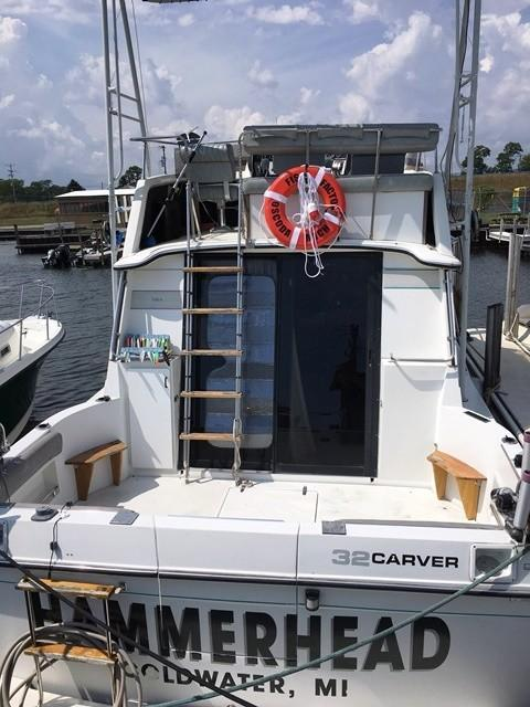 1987 Used Carver 3227 Convertible Fishing Boat For Sale 17 900