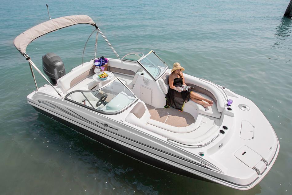 2015 new hurricane sundeck 187 ob deck boat for sale for Hurricane sundeck for sale