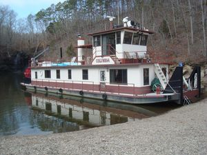 Used Tucker Marine 84 Sternwheeler Paddlewheeler Trawler Boat For Sale
