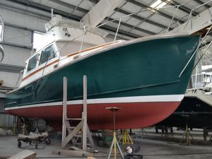 Used Wilbur 38 Downeast FB Cruiser Boat For Sale