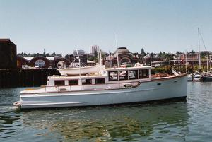 Used Martinolich Bridge Deck Cruiser Trawler Boat For Sale