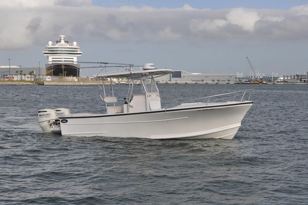Used Dusky 28XL 2018 Suzuki Power Center Console Fishing Boat For Sale