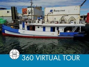 Used Tugboat 76' Wallace Shipyard T Motor Yacht For Sale