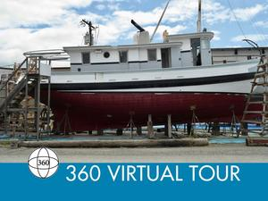 Used Tugboat Yacht Conversion Mckenzie Barge & Derrick CO. LTD. Antique and Classic Boat For Sale