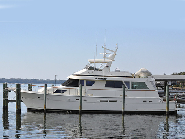 1989 Used Hatteras Cockpit Motor Yacht Motor Yacht For