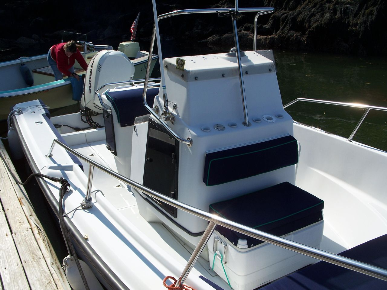1993 Used Boston Whaler Outrage Center Console Fishing Boat