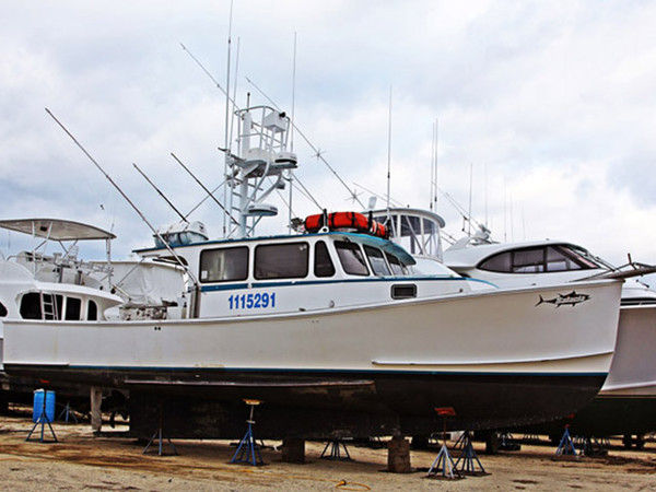 2001 used custom downeast fishing boat for sale for Fishing boats for sale nj