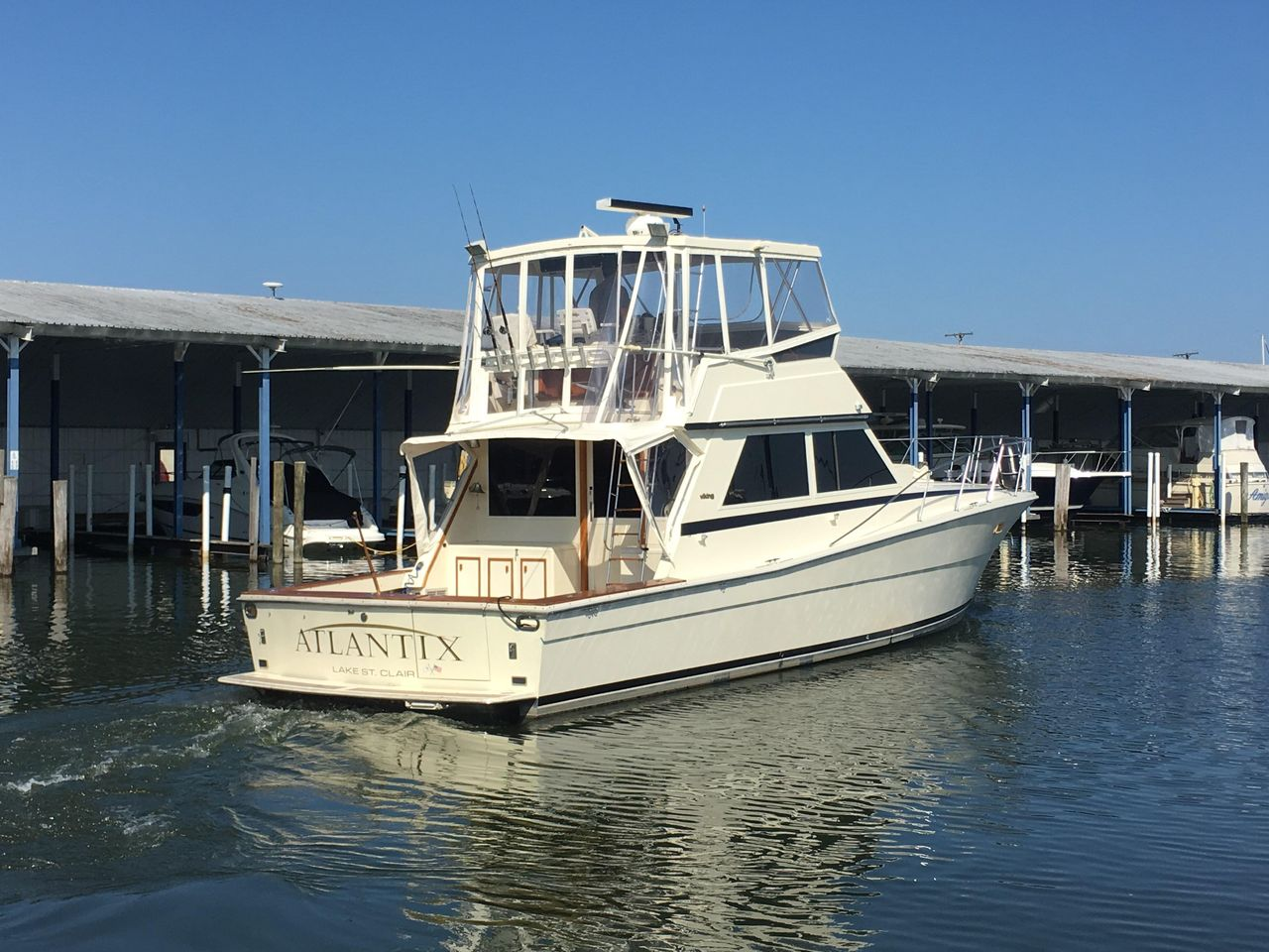 1986 Used Viking 48 C Convertible Fishing Boat For Sale