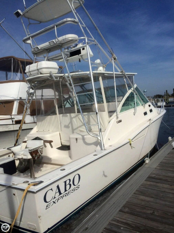 2002 used cabo yachts 35 express sports fishing boat for for Fishing boats for sale nj