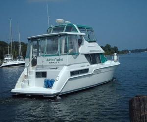 Used Carver 355 Aft Cabin Cruiser Boat For Sale