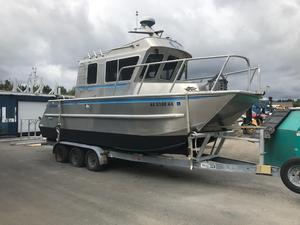 Used Armstrong Marine Cuddy Cat Power Catamaran Boat For Sale