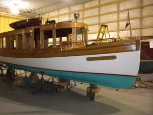 Used Davis Dry Dock Glass Cabin Launch Antique and Classic Boat For Sale