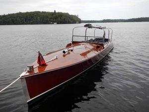 Used Gilbert Long Deck Motorlaunch Tender Boat For Sale