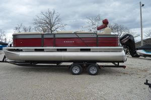 New Crest I Fish 220 C4 Pontoon Boat For Sale