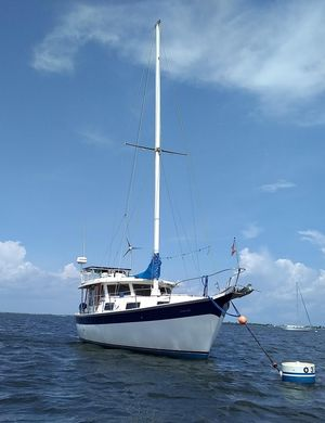 Used Custom Schucker 436 Motorsailer Trawler Boat For Sale
