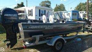 Used Crestliner 1850 Fish Hawk Aluminum Fishing Boat For Sale