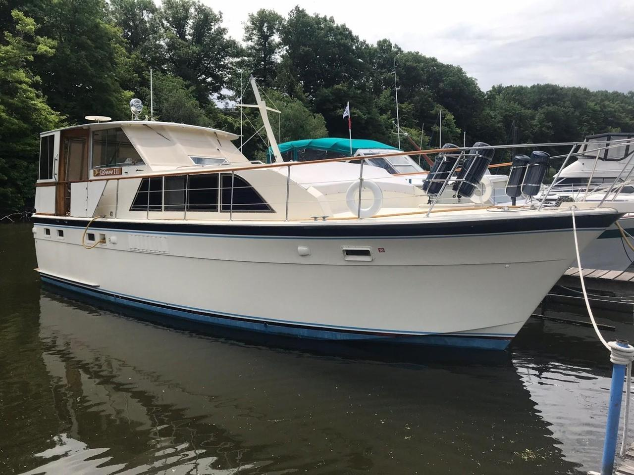 1971 Used Hatteras 43 Double Cabin Cruiser Boat For Sale - $65,900