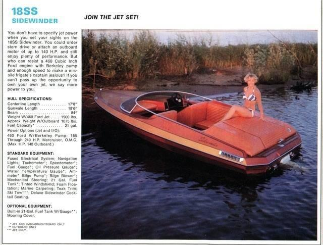 1978 Used Sidewinder 18 Jet Boat High Performance Boat For