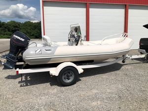 Used Zodiac 480 DL Rigid Sports Inflatable Boat For Sale