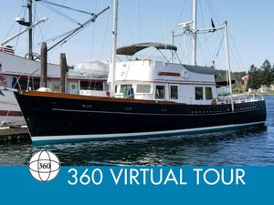 Used Alden Custom 57 Trawler Ketch Rigged Motor Yacht For Sale