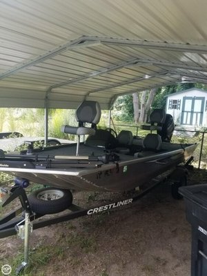 Used Crestliner 1600 Storm Aluminum Fishing Boat For Sale