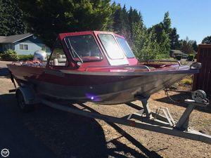 Used Custom Weld 18 Aluminum Fishing Boat For Sale