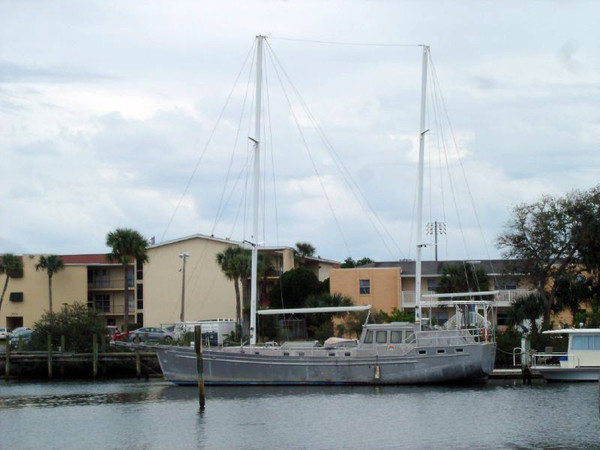 Used Custom Topper Hermanson Island Cargo Design Motorsailer Sailboat For Sale