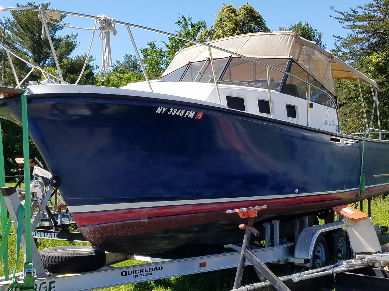 1988 Used Albin Sport Express 27 Cruiser Boat For Sale