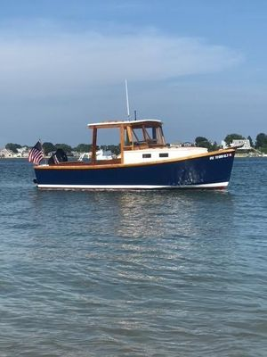 Used Custom Arch Davis Down East Jiffy V-22 Picnic Downeast Fishing Boat For Sale
