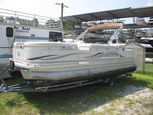 Used Aqua Patio 220 DF Pontoon Boat For Sale