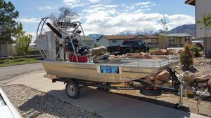 Used Hydroslide Mini Airboat 12 Wet Nymph Air Boat For Sale