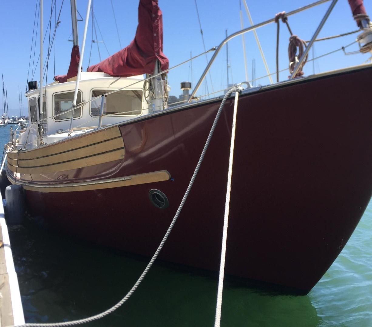 1985 Used Fisher 34 Pilothouse Sailboat For Sale 89 000