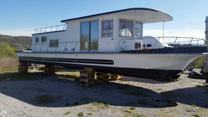 Used Custom Built 50 Foot Houseboat House Boat For Sale
