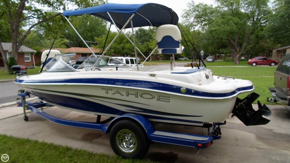 2007 used tahoe q4 ski fish i o bowrider boat for sale for Stock fish for sale texas