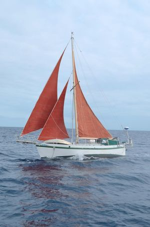 Used Custom Tahiti Rover Steel Auxiliary Cutter Sailboat For Sale