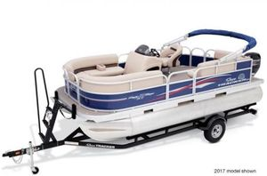New Sun Tracker PARTY BARGE 18 w/ Mercury 60 ELPT 4-Stroke CTPARTY BARGE 18 w/ Mercury 60 ELPT 4-Stroke CT Pontoon Boat For Sale