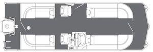 New Manitou Auroa 25 LR RF SHP Pontoon Boat For Sale