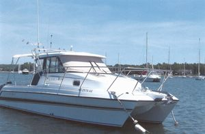 Used Glacier Bay 2685 Coastal Runner Power Catamaran Boat For Sale