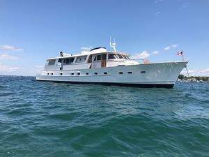Used Burger Flush Deck with Cockpit Motor Yacht For Sale